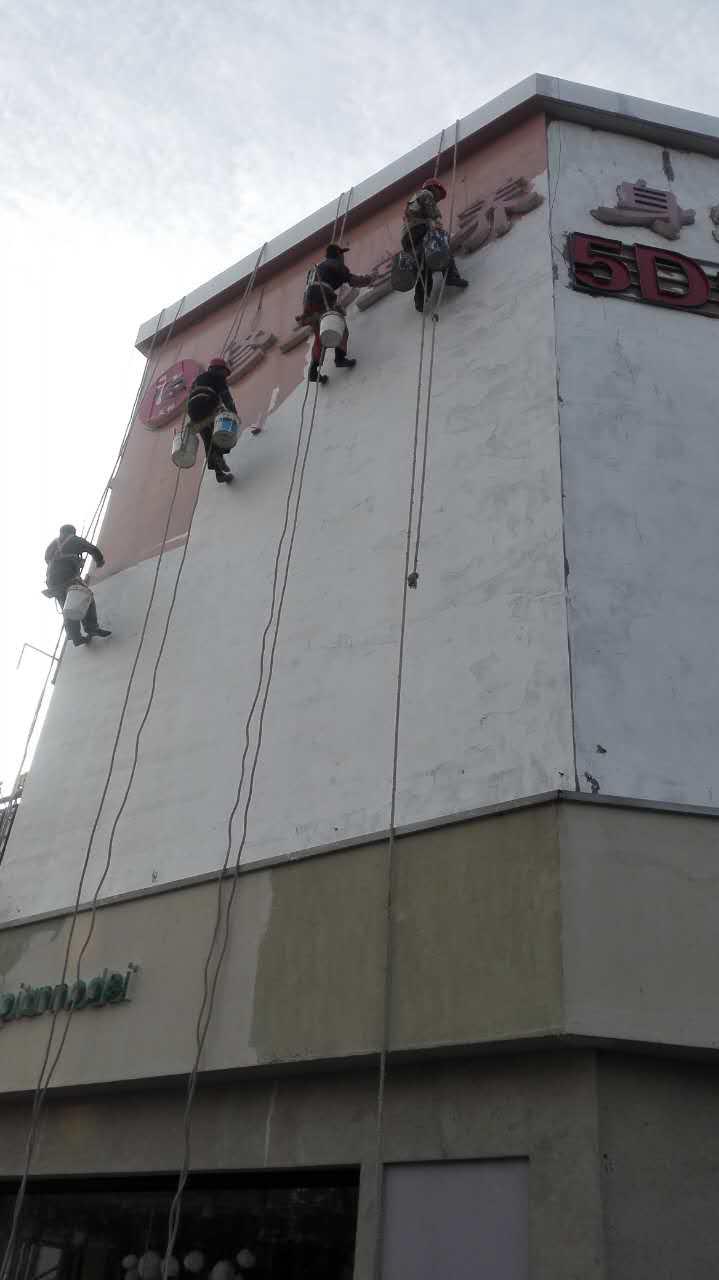苏州南通大厦外墙堵漏
