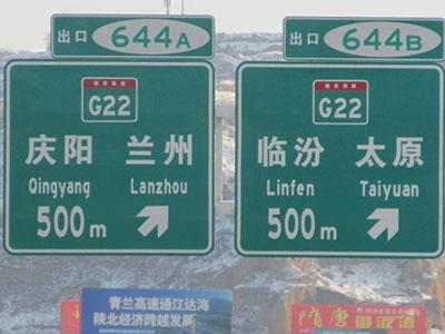公路国道标志牌