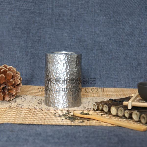 手工锤纹茶叶罐