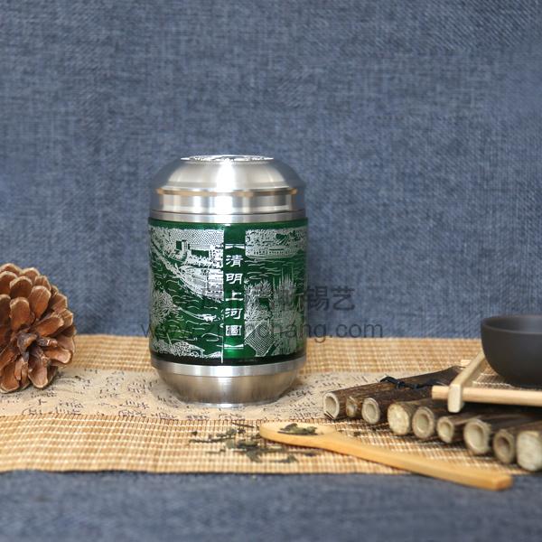 水晶茶叶锡罐