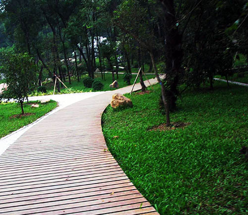 贵州防腐木景观工程