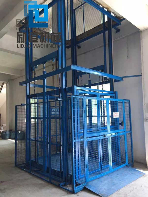 4軌道液壓升降機貨梯