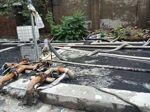 废塑料污水污泥池治理