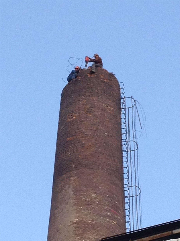 砖烟囱拆除加固