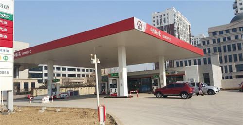 中石化加油站灯箱