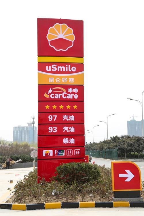 加油站广告牌设计