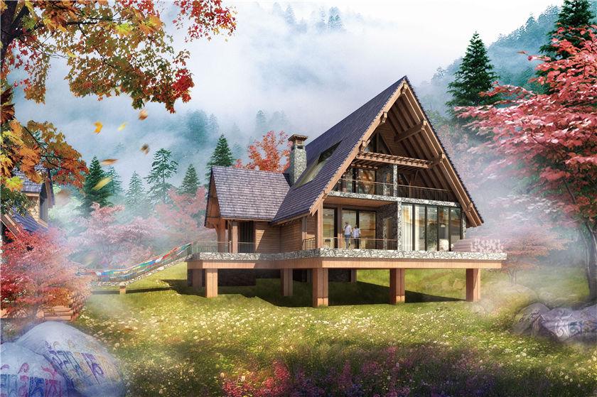 欧式木制别墅