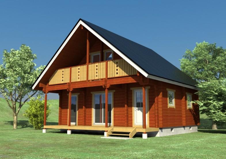 景观木房子