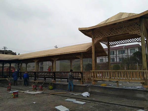 防腐木建筑工程