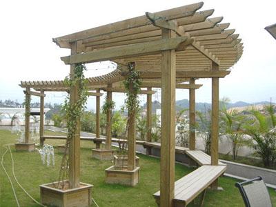 贵阳户外木质花架