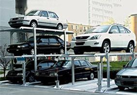 基坑三层简易升降立体停车设备