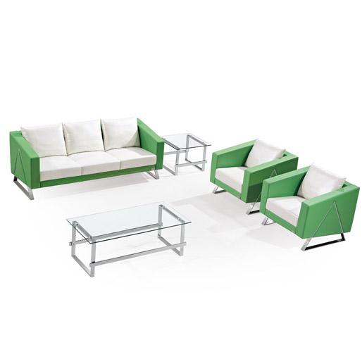 绿色组合办公沙发