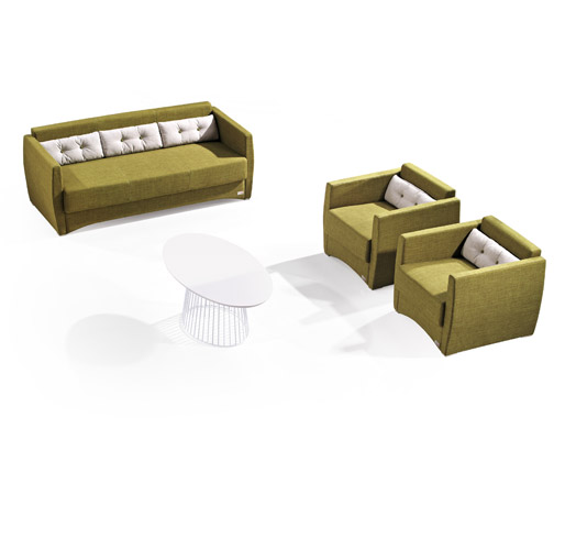 棕黄色组合休闲沙发