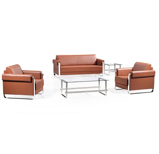 棕褐色组合休闲沙发