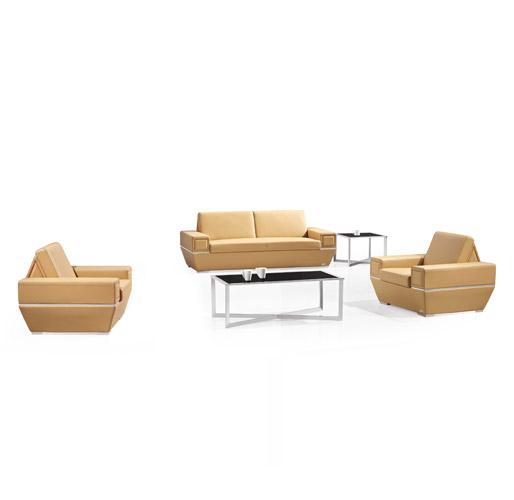 单黄色休闲组合沙发