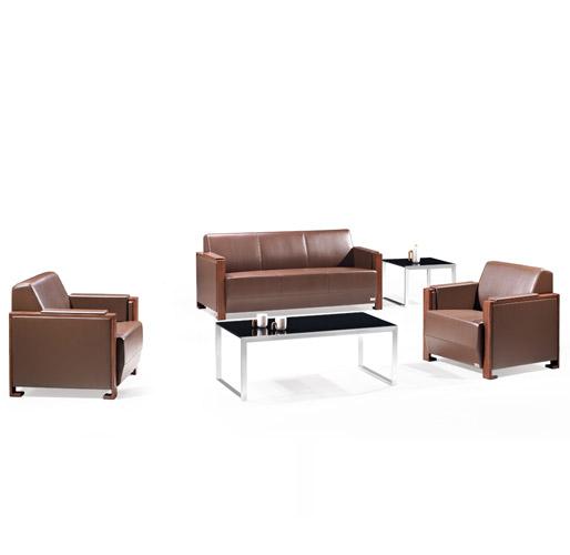 深褐色办公沙发