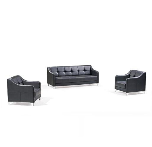 青色办公休闲沙发