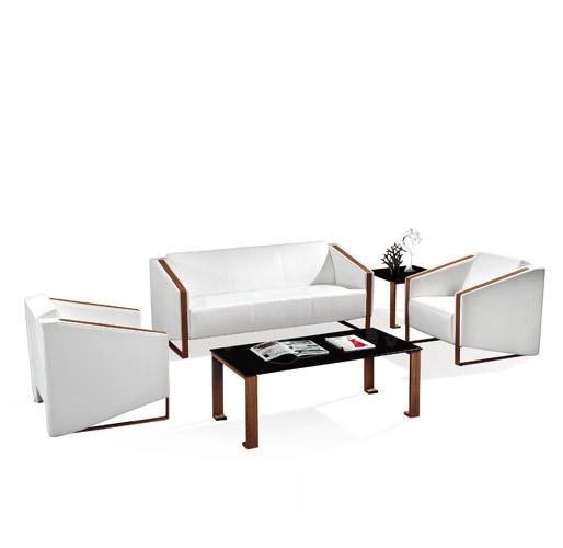 白色实木组合沙发
