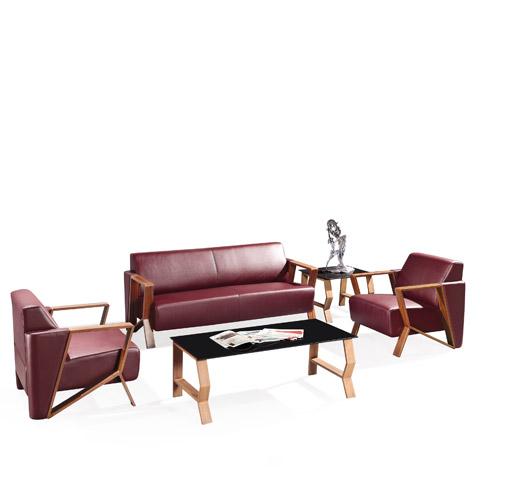 咖啡色办公组合沙发