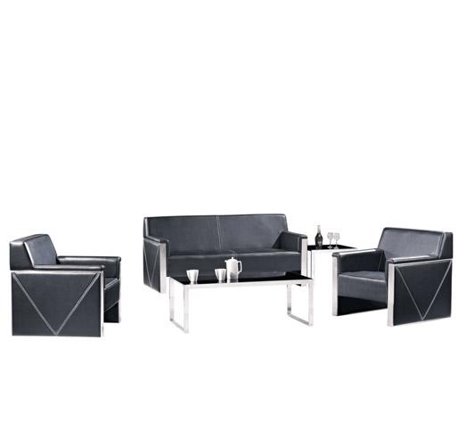 黑色办公沙发