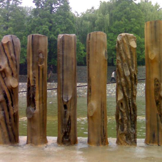 水泥仿树栏杆