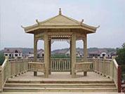 防腐木木结构凉亭