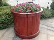 防腐木花箱安装