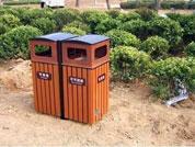 贵阳防腐木垃圾桶厂家