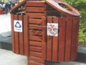防腐木垃圾桶批发