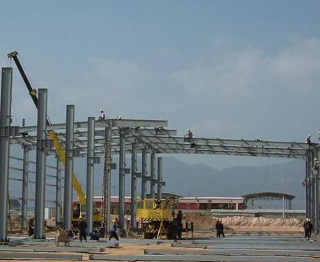 钢结构厂房实地安装