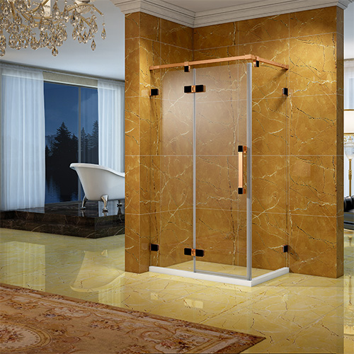 淋浴房型材——不锈钢滑盖双色门铰外开系列