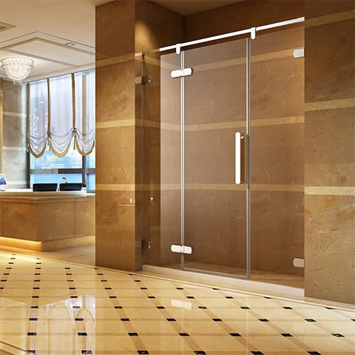 淋浴房型材——圆角斜边加大门铰平开系列