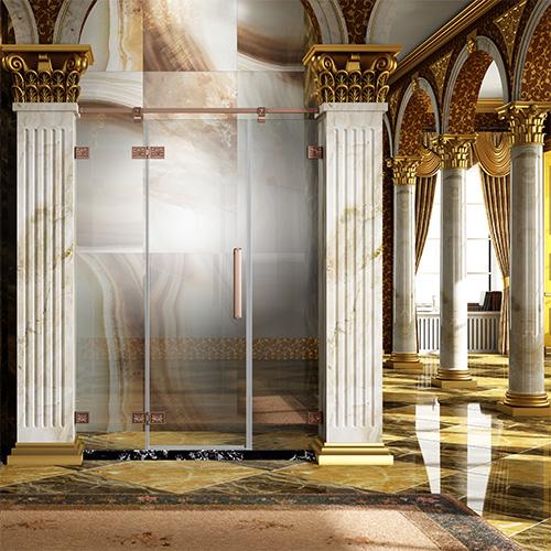 淋浴房型材――仿古雕花外开系列