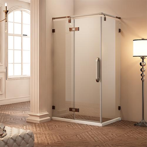 淋浴房型材——镶嵌双色门铰平开门