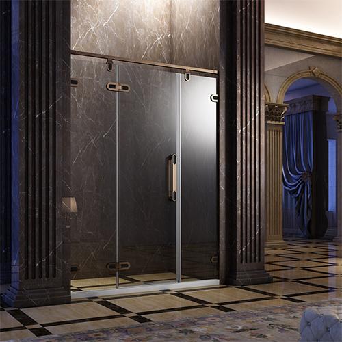 淋浴房型材——不锈钢镶嵌双色门铰外开系列
