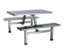不鏽鋼四人餐桌