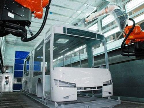 客车整车机器人喷涂房