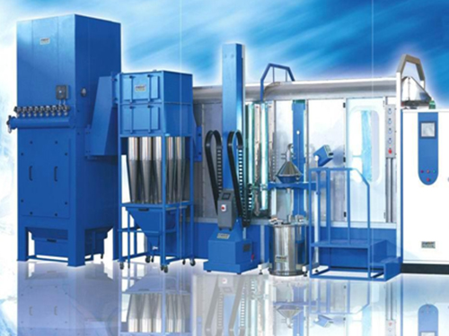 Double stage recycling powder equipment for small cyclone and filter core