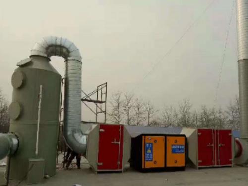 塔式喷淋三级漆雾处理设备