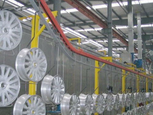 汽车轮毂储存吊空输送线