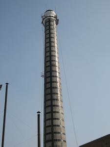 电厂烟囱安装避雷针
