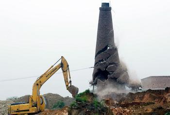 高空烟囱拆除
