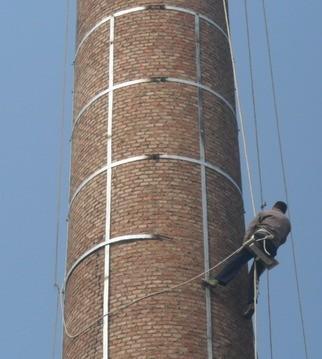 35米砖烟囱维修