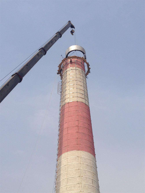 砖烟囱加固加高