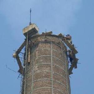 砖烟囱拆除加高维修