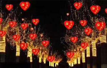 节庆树挂灯