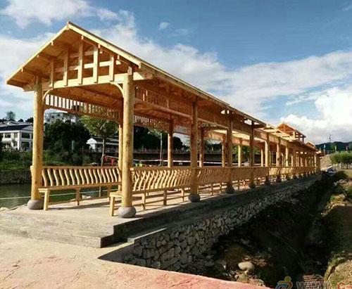 防腐木长廊设计