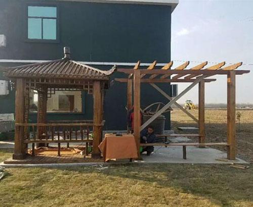 贵州防腐木凉亭设计