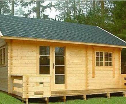 防腐木木屋安装