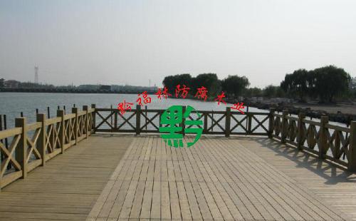 防腐木亲水平台